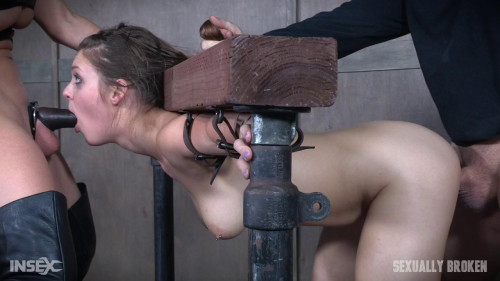 Part 2 Nora Riley gets spit roasted, cocks from both sides, made to cum over and over.