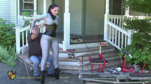 Houseofgord - Caroline Pierce -Mesh Catsuit Mobi-Fuck HD 2015 BDSM