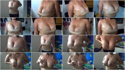 spanish huge tit Xiomara plays with her boobies