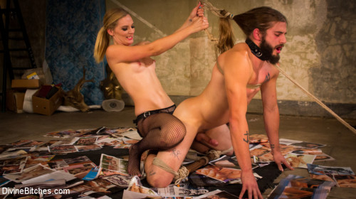 Mona Wales lifts, tosses and fucks trucker pervert! Femdom and Strapon