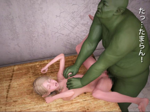 Everyday life of an orc that captured a blond girl elf 3D Porno