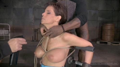 Syren De Mer shackled down BDSM