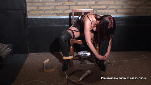 Tracey Lain dresses in a short leather skirt... (2015) BDSM