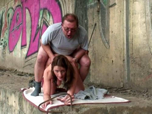 Busty slut fucked under the bridge in all holes Public Sex