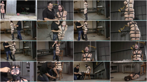 Super bondage, domination and strappado for young naked girl