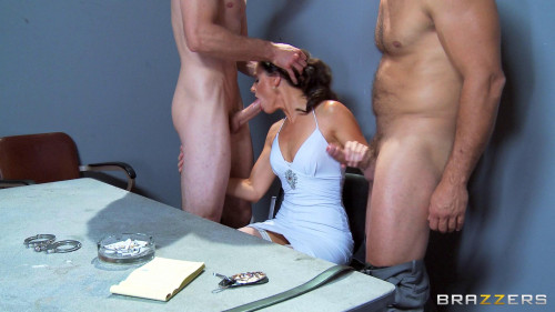 DOWNLOAD from FILESMONSTER: threesome Seductive And Professional Sex Performer With Two Detectives