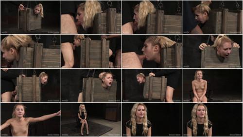 SexuallyBroken - Mar 18. 2016 - Tiny blonde Odette Delacroix bound inside a boxs BDSM