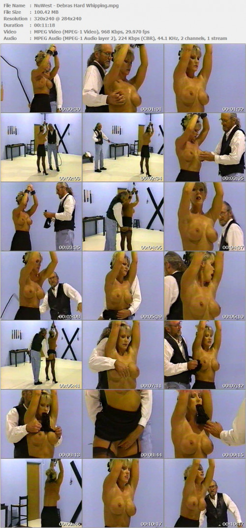 DOWNLOAD from FILESMONSTER:  NuWest Spanking BDSM Extreme Torture  NuWest   Debras Hard Whipping