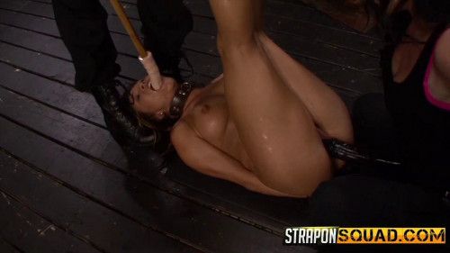 Brooklyn Daniels & Ava Kelly Give Smart Mouth Sex Slave Mena Li More Training BDSM