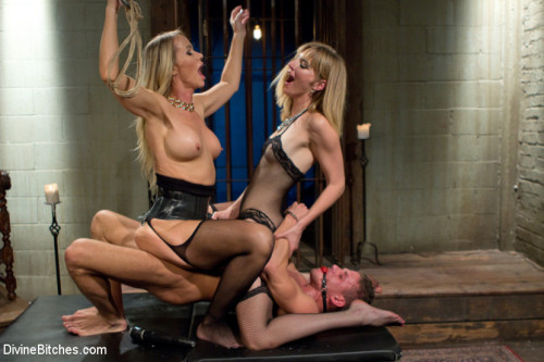 Stepmother And Daughter Dominating Duo Femdom and Strapon
