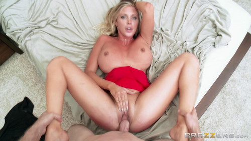 Pretty Lady In Red And The Guy Mechanic Big Tits