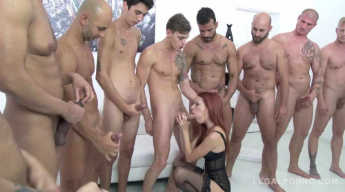 10 men anal gangbang for little babe