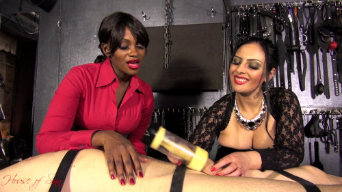 Mistress Ezada Sinn & Mistress Ava Black – Milking Machine