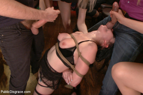DOWNLOAD from FILESMONSTER: bdsm Slutty Veruca Publicly Shamed and Fucked Hard in Crowded Bar