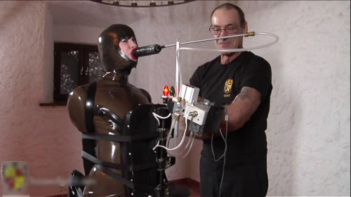 Extreme bondage and torture for hot model with big boobs
