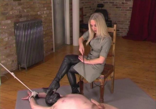 Stretched Waxed Femdom and Strapon