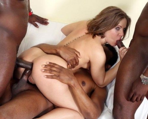 Sasha Zima is back to face three bulls She gets fucked very well FullHD 1080p