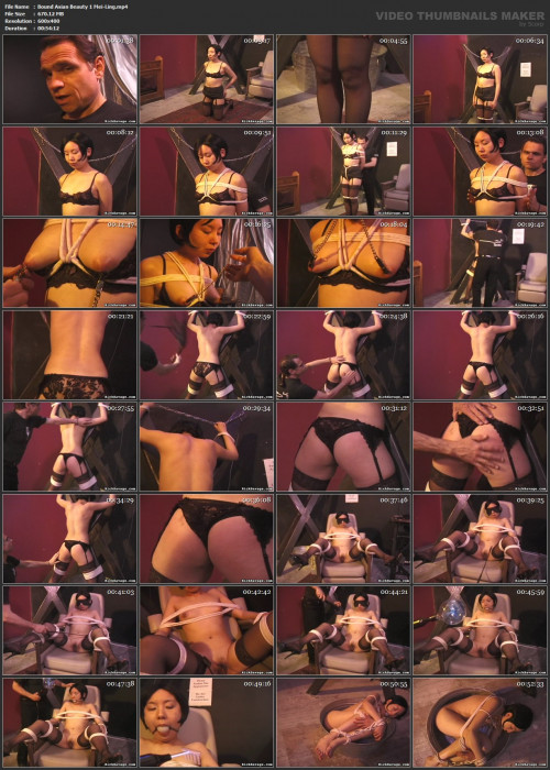 Bound Sexy Asian Beauty Mei-Ling In BDSM Action