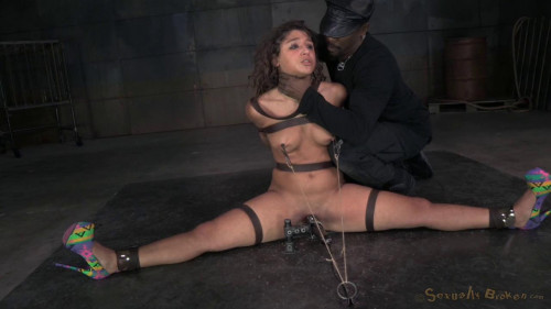 Fleksible cock slut Abella Danger bound multipl orgasms and drooling brutal deepthroat on hard cock! BDSM