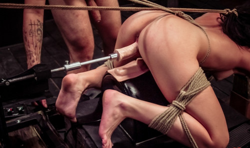 Hard Rope Bondage for her Master's Cum