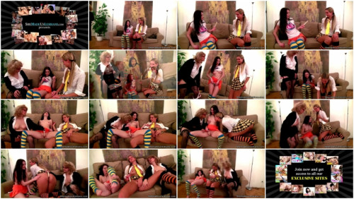 DOWNLOAD from FILESMONSTER: lesbians Two coeds found a dildo on the sofa.
