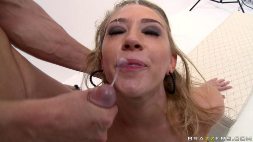 Blonde Girl Uses A New Type Of Dating Big Tits