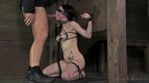 facefucked with brutal deep throating BDSM