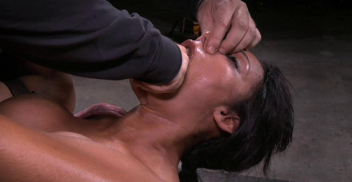 Santana Belt Bound And Dicked Down With Punishing Drooling Deepthroat BDSM