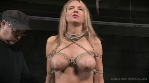 Big breasted blonde Rain DeGrey tightly tied brutal deepthroat massive multiple orgasms! (2015) BDSM
