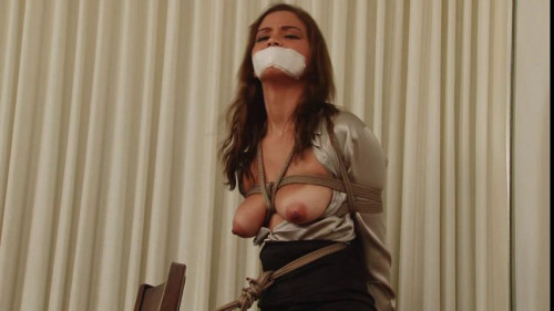 Bound and Gagged – OfficeBound ShinyBlouse Secretary – plus Outtakes – Miss Karter Foxx