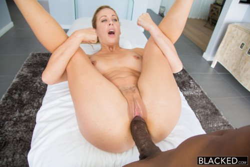 Blonde Lady Was Always Attracted By Big Black Dicks