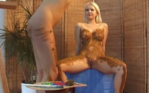 Hot lesbians loves to play with shit Scat