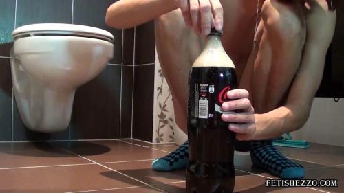 Fetishezzo - Enjoying cola enema Gay Extreme