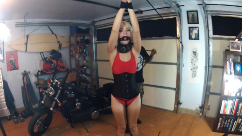 Red Swimsuit BDSM