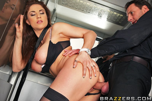 Seductive Girl Meets The Needs Of User Of The Elevator