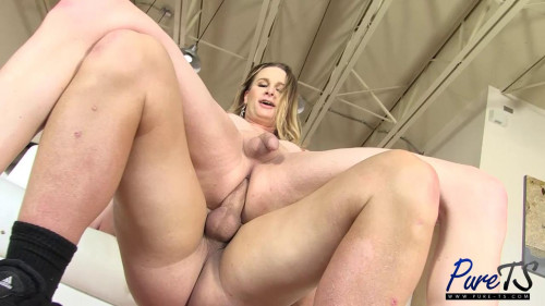 Busty MILF Marcy fucks a lucky guy SheMale