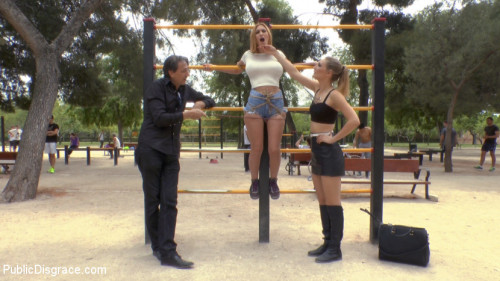 Two Slutty Losers Get Mind Fucked by Mona Wales and Juliette March BDSM