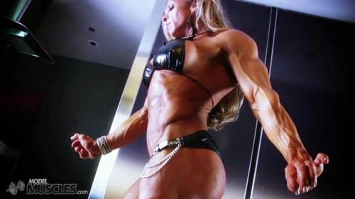 DOWNLOAD from FILESMONSTER: female muscle Debi Laszewski in Leather Bikini