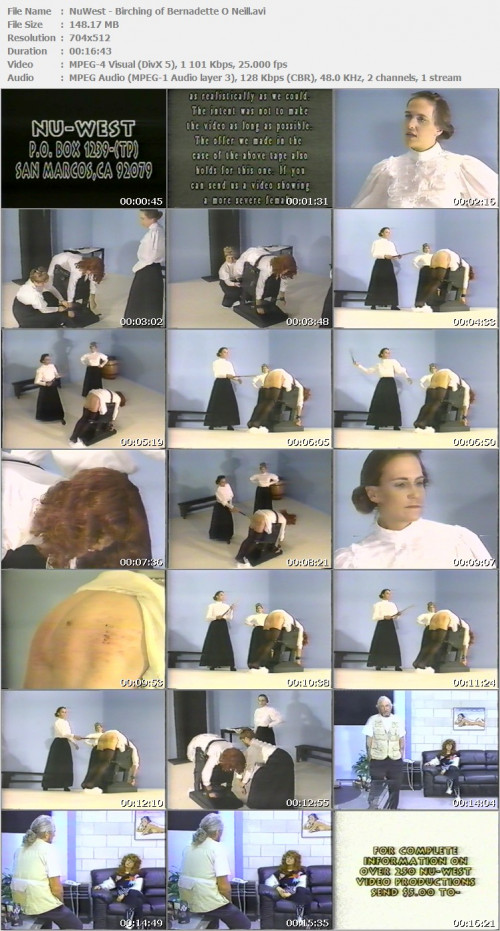 DOWNLOAD from FILESMONSTER:  NuWest Spanking BDSM Extreme Torture  NuWest   Birching of Bernadette O Neill