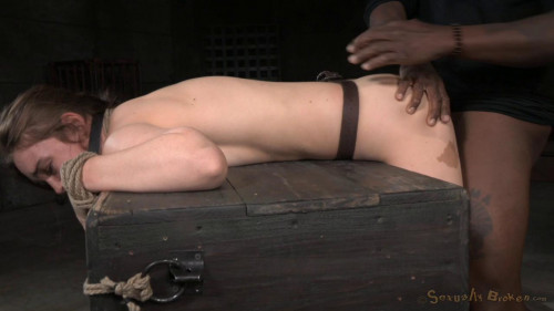 Lush brunneete Jodi Taylor bent over, bound and used hard with drooling deepthroat on BBC! BDSM