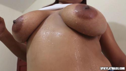 amazing amateur latina flashing her big tits