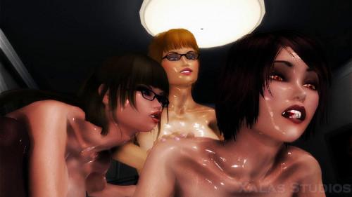 Lezdom Vixens 3D Porn