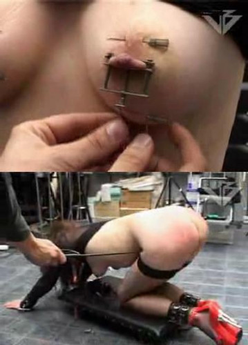 Puncture of my nipples BDSM