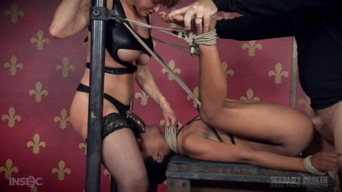 bdsm Tiny Slut Kahlistas Fucked On Table And Made To Cum Even More For Live Show