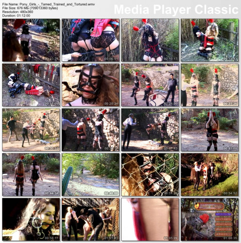 Pony Girls - Tamed Trained & Tortured (DVDRip 2006) BDSM