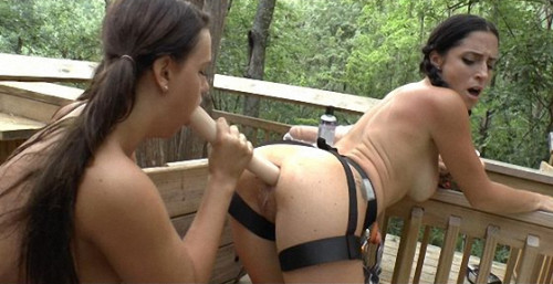 Fisting and Dildo Naked Zlp Lining Into My Lesbian Treehouse