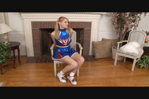 bdsm Bound and Gagged - Handcuffed CheerGirl Carli Banks