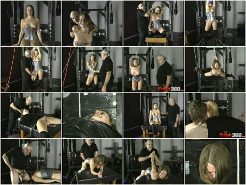 Slave Joleen Wrapped Clamped Throated BDSM