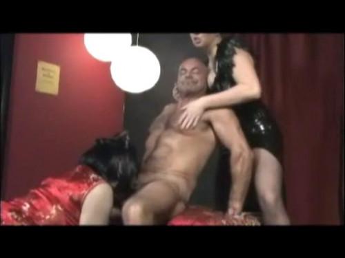 Femdom and Strapon Sissy Sex Slave