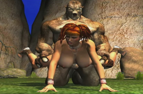 [3D VIDEO] Sex With a Huge Mutant 3D Porno